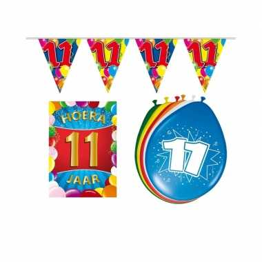 11 jaar geworden feestartikelen voordeel pakket