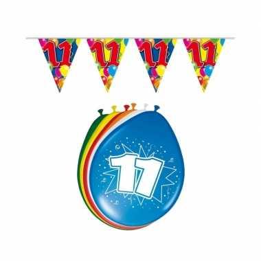 11 jaar geworden feestartikelen voordeel set