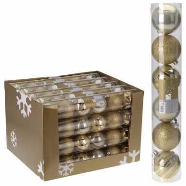 12-delige kerstballen set goud7 cm