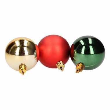 12-delige kerstballen set rood/groen