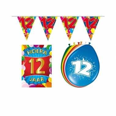 12 jaar geworden feestartikelen voordeel pakket