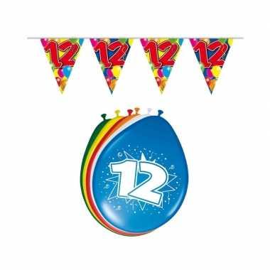 12 jaar geworden feestartikelen voordeel set