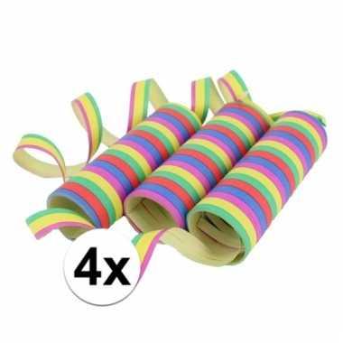 12 rollen gekleurde serpentine