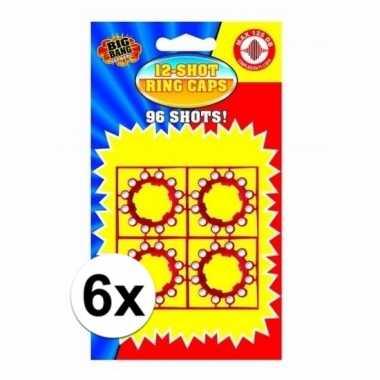 12-schots speelgoed plaffertjes 6 stuks