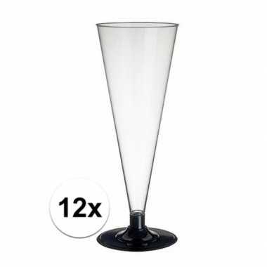 12 x champagne/prosecco glazen transparant