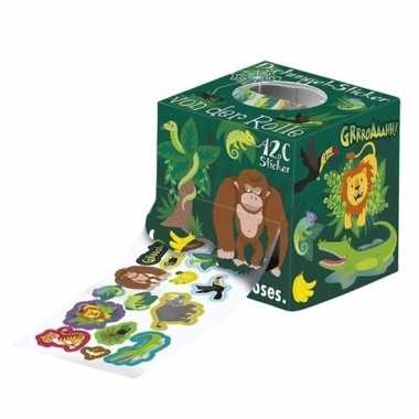 120 jungle stickers op een rol