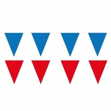 120 meter rode/blauwe buitenvlaggetjes