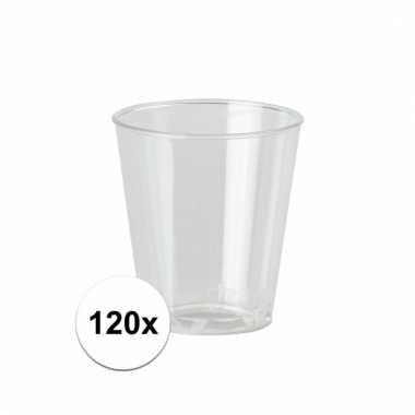 120 plastic wegwerp shotglaasjes 30 ml