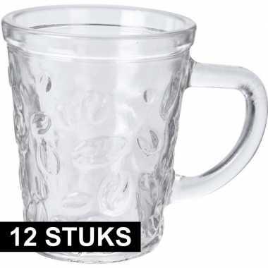 12x espresso glazen/glaasjes van 70 ml