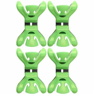 12x feestversiering ophangen klemmen groen
