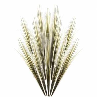 12x groene grassprieten kunsttakken 58 cm
