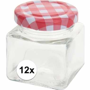 12x jam potje met draaideksel 75 ml