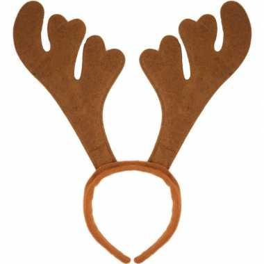 12x kerst verkleedaccessoire bruin rendieren gewei voor volwassenen