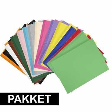 14x a4 hobbykarton in alle kleuren