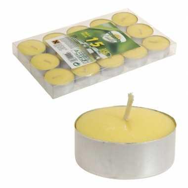 15x citronella waxinelichtjes anti muggen