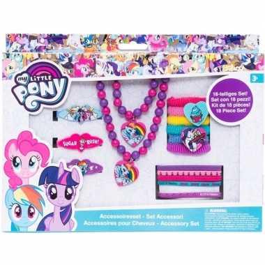 18x my little pony haarelastieken/sieraden rarity/rainbow dash/pinkie