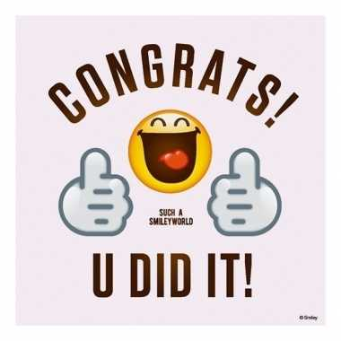 20x feest servetten emoticons/smileys thumbs up 33 x 33 cm