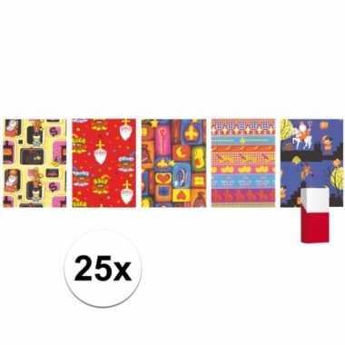 25 rollen sinterklaas inpakpapier / cadeaupapier