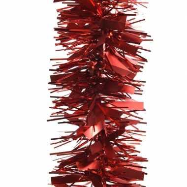 2x rode kerstboom folie slinger mat/glans 270 cm