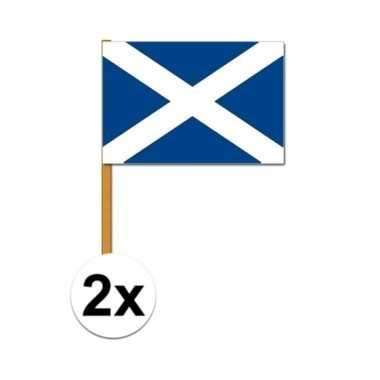 2x schotland zwaaivlaggetjes