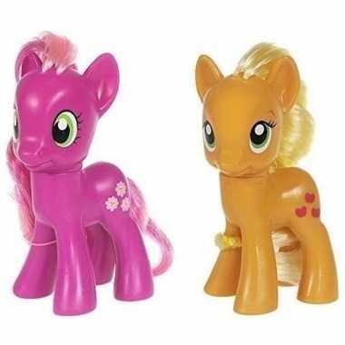 2x speelgoed my little pony plastic figuren cheerilee/applejack