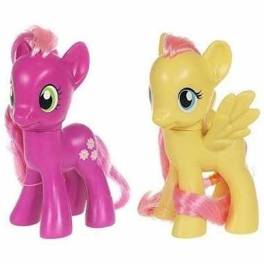 2x speelgoed my little pony plastic figuren cheerilee/fluttershy