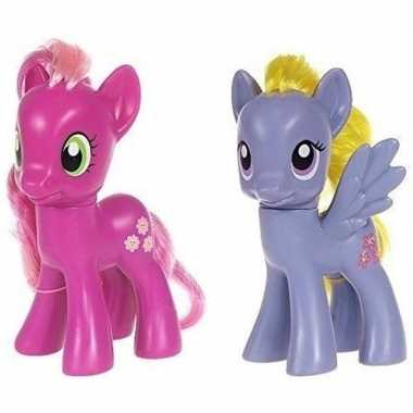 2x speelgoed my little pony plastic figuren cheerilee/lily blossom