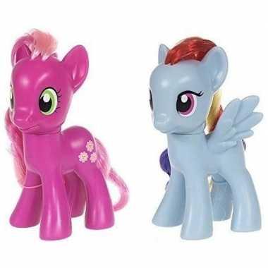 2x speelgoed my little pony plastic figuren cheerilee/rainbow dash