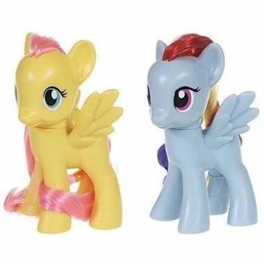2x speelgoed my little pony plastic figuren fluttershy/rainbow dash