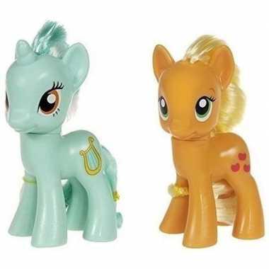 2x speelgoed my little pony plastic figuren heartstrings/applejack