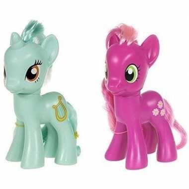 2x speelgoed my little pony plastic figuren heartstrings/cheerilee
