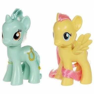 2x speelgoed my little pony plastic figuren heartstrings/fluttershy