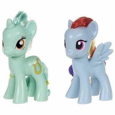 2x speelgoed my little pony plastic figuren heartstrings/rainbow dash