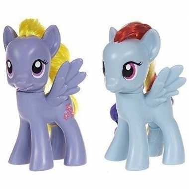 2x speelgoed my little pony plastic figuren lily blossom/rainbow dash