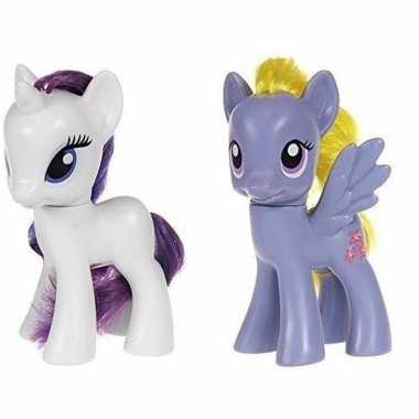 2x speelgoed my little pony plastic figuren rarity/lily blossom