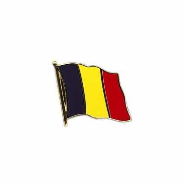2x stuks vlag speldjes belgie vlaggen