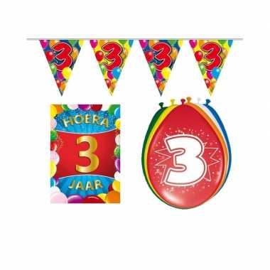 3 jaar geworden feestartikelen voordeel pakket