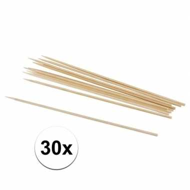 30x hobby knutselhoutjes naturel 20 cm