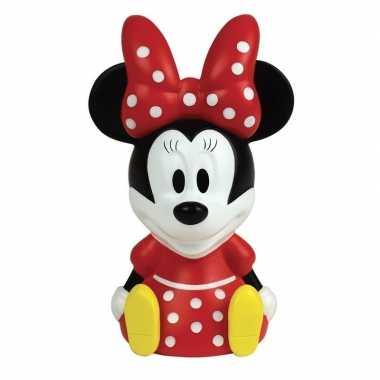 3d minnie mouse disney lampje 13 cm