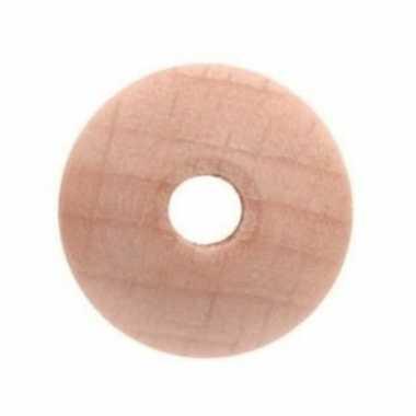 3x houten kralen naturel 4 cm