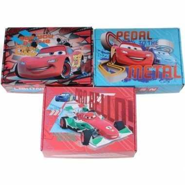 3x kartonnen opbergboxen/opbergdozen cars thema bliksem mcqueen/franc