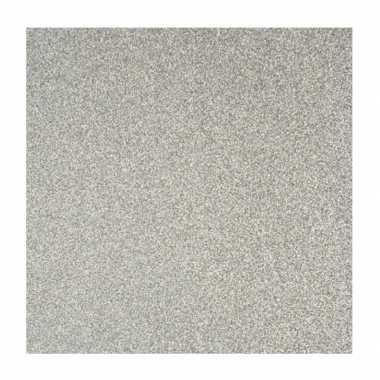 3x velletjes scrapbooking papier zilver glitters