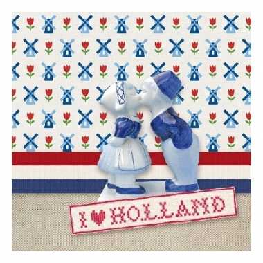 40x stuks servetten i love holland print 3-laags