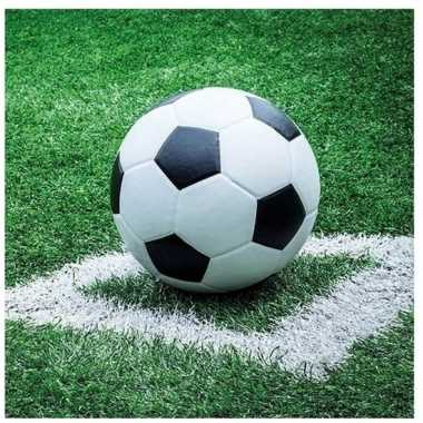 40x voetbal thema feest servetten 33 x 33 cm