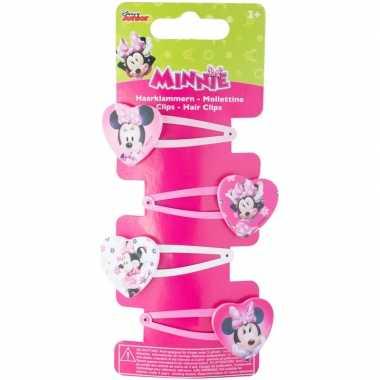 4x disney minnie mouse haarspeldjes voor meisjes