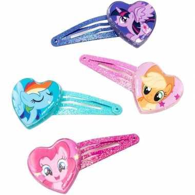 4x my little pony haarspeldjes twilight sparkle/applejack/rainbow das