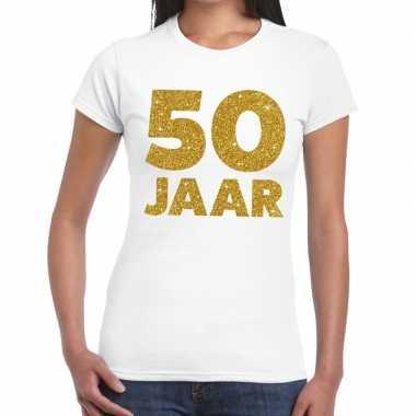 50 jaar verjaardag fun t-shirt wit voor dames