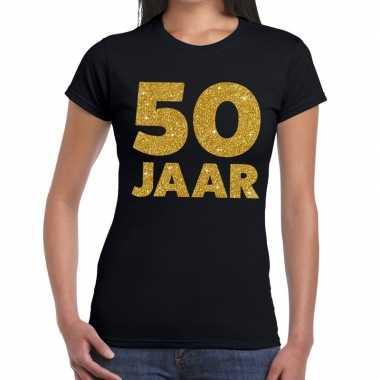 50 jaar verjaardag fun t-shirt zwart voor dames