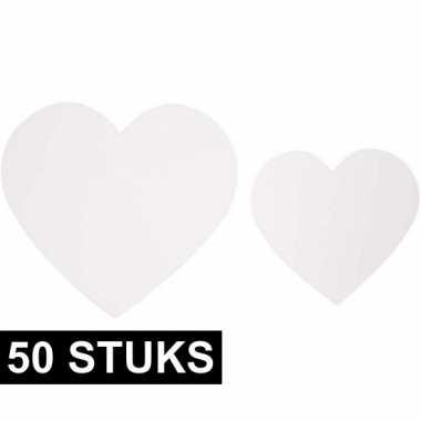 50 stuks deco papieren hartjes