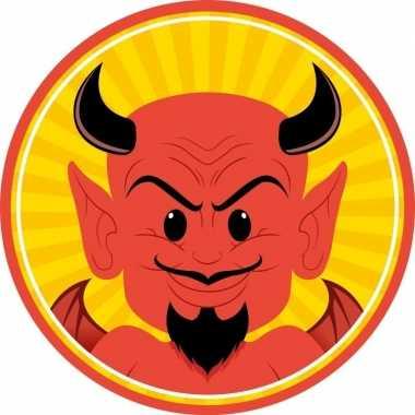 50x rode duivels onderzetters/bierviltjes